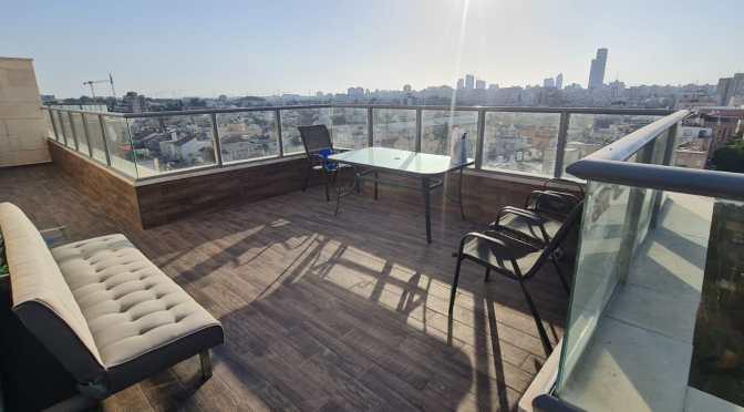 דירת גג חדשה, 4 חדרים, בויצמן חולון.